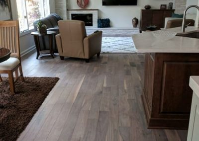 Hardwood Flooring in Kitchen, Living Room and Dining Room