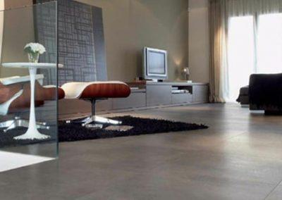 Tile Flooring in Living Room
