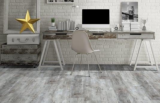 Vinyl Plank Flooring in Home Office