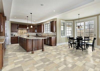 Vinyl Flooring with Tile Look in Kitchen