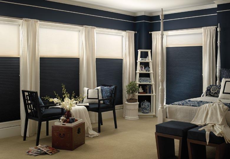 Blackout Cellular/Honeycomb Blinds in Bedroom