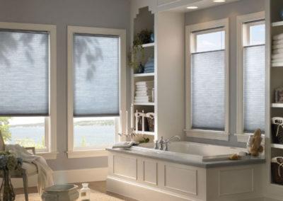 Honeycomb/cellular blinds in bathroom