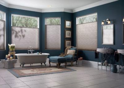Neutral Honeycomb/Cellular Blinds in Bathroom