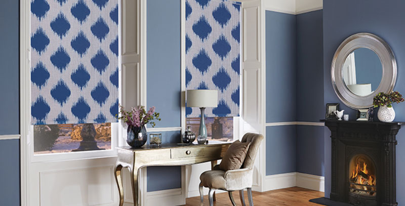 Decorative Roller Blinds in Entrance Way