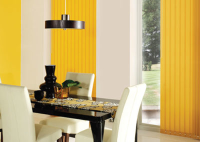 Vertical Blinds in Dining Room