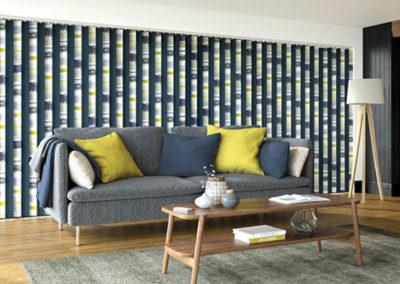 Decorative Vertical Blinds in Living Room