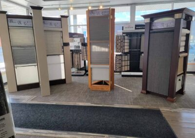 Blinds By Vertican Inc. Window Coverings Stand Samples In Store